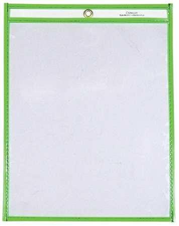 Shop Ticket Holder, 9x12, Neon Green, PK15