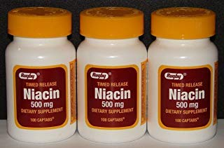 (Rugby Niacin 500mg Timed Release Captabs 100ct (3) )