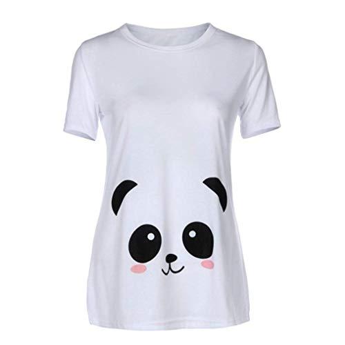 Shirt Modle Casual Col Allaitement Rond Tshirt Spcial Cartoon lgant C Enceinte Manches Mode Tops Impression Maternit Style Courtes Confortable Et Femme Caline XwTAwqU