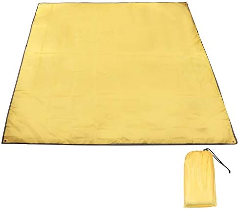 CAMPMAX Camping Tarp Waterproof, Sturdy Oxford Ultra Lightweight Compact Tent Footprints 4 Person Ground Cloth for Outdoor Backpacking Hiking