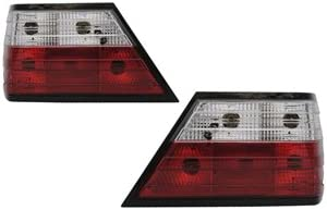 ベーシックテールランプ クロームインナー・レッド&クリスタルレンズ 85-95 Mベンツ W124 Eクラス 4ドア