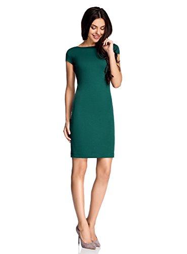oodji Collection Mujer Vestido Ajustado con Escote en la Espalda Verde (6E00N)