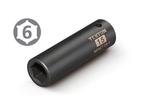 6-Point TEKTON 14123 1//4-Inch Drive by 11//32-Inch Deep Socket Cr-V