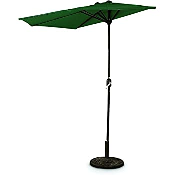 CASTLECREEK 8u0027 Half Round Patio Umbrella