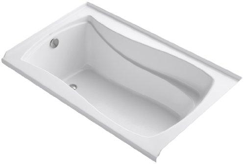 KOHLER K-1242-L-0 Mariposa 5-Foot Bath with Integral Tile Flange, Left-Hand Drain, White -