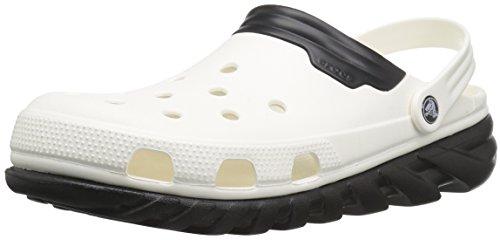Crocs Unisex Duet Max Clog, White/Black, 8 M US Men/10 M US Women