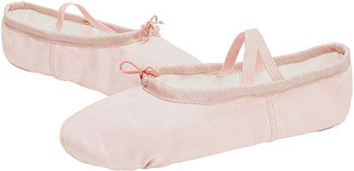 Slipper Ballet Sole Women's Vamp Girl's Dancing JOINFREE Flat Canvas Shoes Leather apricot Canvas OfYERwq
