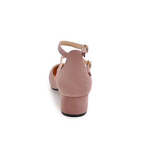 lanière talon sangle à doublure à Huarache moyen pour uréthane femmes froid fermé Sandales solide en à en à bout fermeture sandales rembourrage pourpre BalaMasa réglable sans nubuck ASL04333 zOP8wq