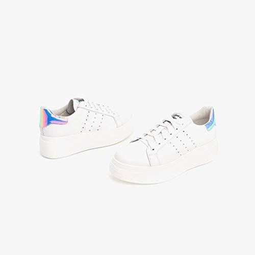 Fond Sauvages Blanches épais Chaussures de Blanc décontractées Chaussures Confortables 1wtCCg