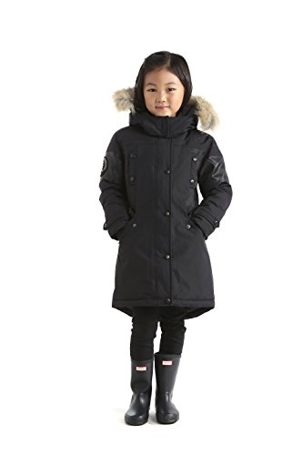 Triple F.A.T. Goose Embree Girls Down Jacket Parka with Real Coyote Fur (10, Black) by Triple F.A.T. Goose (Image #5)