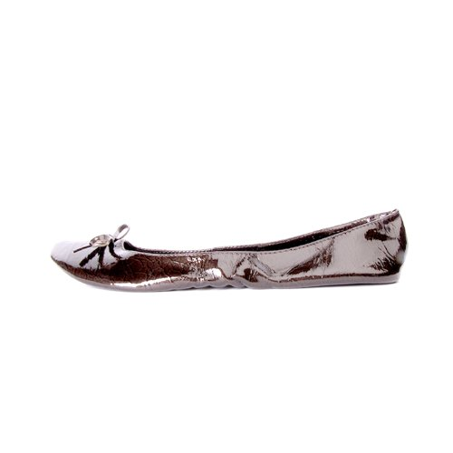 patent tailles disponibles femme dans les jusqu' Chaussures marron ruban Ballerines avec pliables xXpggw7qB