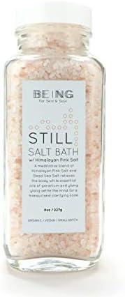 LIVE BY BEING Himalayan Pink & Dead Sea Salt Bath or Foot Soak – All-Natural, Vegan, Handmade, Organic Ess