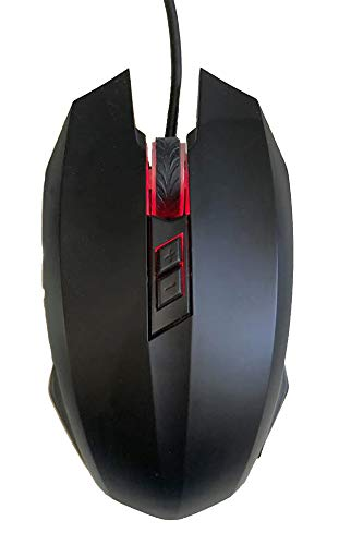 USB Optical Heated Computer Mouse EZ-DPI (Black)