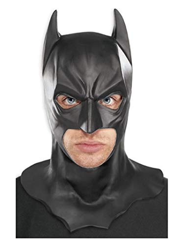 Rubie's Costume Batman The Dark Knight Adult Batman Full Overhead Latex Mask  Black  One Size -