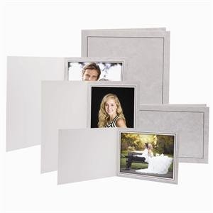 6x4 Traditional Grey Marble Photo Folders - 100 Pack by Neil Enterprises, Inc