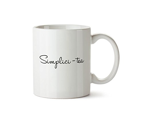 (Simplici-tea Plain Simple Easy Mug Design Novelty Gift 10oz Coffee Cup)