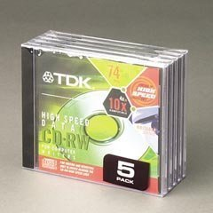 TDK High Speed Data CD-RW (5-Pack) (Discontinued by Manufacturer) by TDK