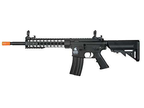 Lancer Tactial LT-19 Gen 2 M4 Carbine AEG Airsoft Rifle (Black with Low - Tactical M4 Carbine