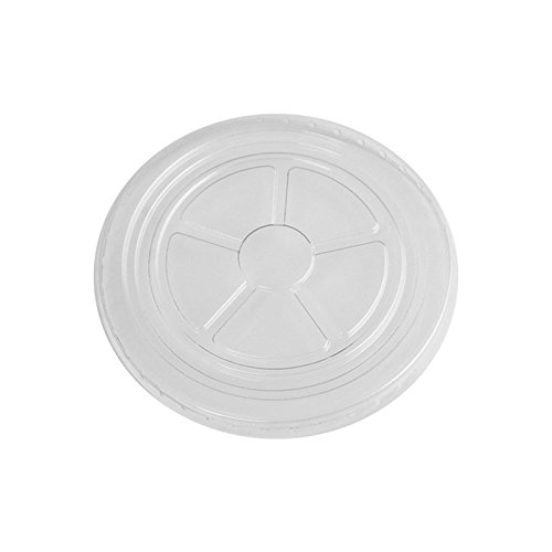 12 oz Plastic Flat Lids - Clear Durable Flat Lids - Frozen Dessert Supplies - Fast Shipping - Cups Sold Seperately! 100 Count