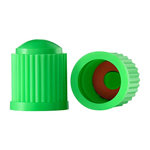 Valve-Loc Tire Valve Caps (25-Pack) Green, Universal Stem Covers for Cars, SUVs, Bike and Bicycle, Trucks, Motorcycles | Heavy-Duty, Airtight Seal | Screw-On, Easy-Grip Use (Green)