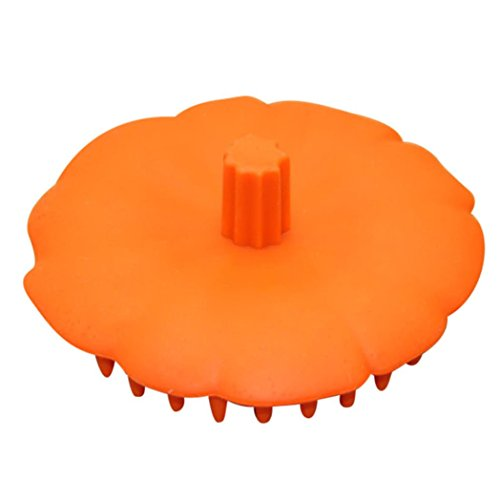 Mchoice New Silicone Shampoo Scalp Shower Body Washing Hair Massage Massager Brush Comb (Orange) (Qi Massager)