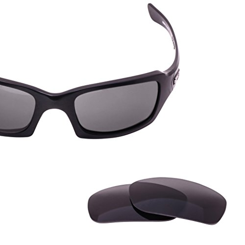 LenzFlip Polarized Replacement Lenses for Oakley FIVES Squared Sunglass Frame - Gray Black Polarized - Oakley Fives For Replacement Lenses