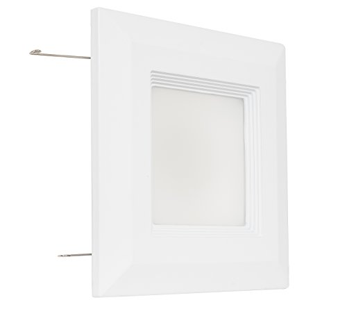"""Westgate Lighting 9 Watt 4"""" Inch Recessed Lighting Kit with Baffle Trim - Square Shaped LED Retrofit Downlight - Premium Dimmable Light Fixture - Best Ceiling Lights - (1 Pack 3000K Soft White)"""