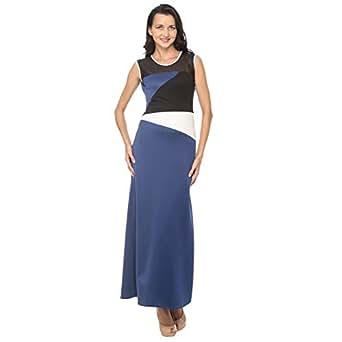 Cocum Beery Maxi Dress For Women - 12 Uk, Blue