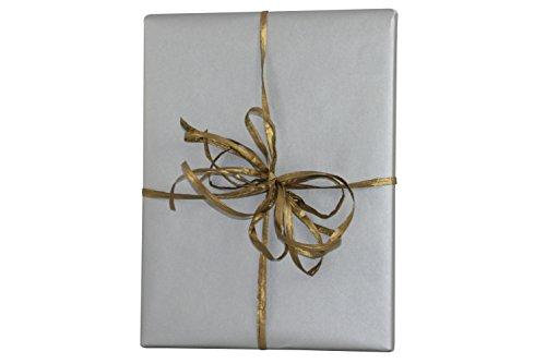 Premium Kraft Gift Wrap Paper Roll - Solid Matte - 50 Sq Ft (Silver) (Paper Gift Wrap Kraft)