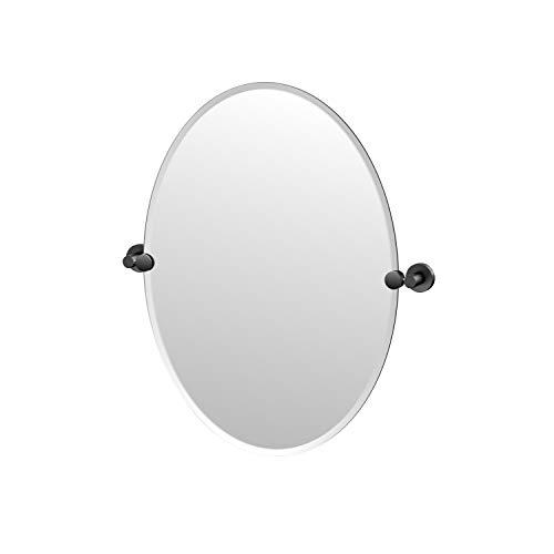Gatco Glam Frameless Oval Mirror, 26.5-inch, Matte -