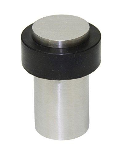 EVI Herrajes I-158/50 - Door stop, finish matt inox (Stainless steel) black rubber by EVI Herrajes ()