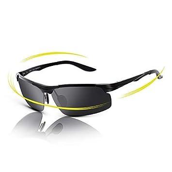 fawova Gafas de Sol Deportivas Hombre Polarizadas,Gafas Running Hombre con Aluminio Ultraligero, Gafas Polarizadas para Conducir Ciclismo UV400 Protección ...