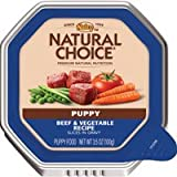 Nutro Natural Choice Slices in Gravy Puppy Beef and Vegetable Dinner Dog Food Tray