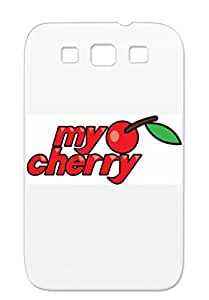 Love Cool Hearts Broken Mine Funky Funny Cherry Red Cute White For Sumsang Galaxy S3 My Cherry Case Cover