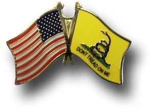 Gadsden Tea Party USA Flag Lapel Hat Pin PPM6020