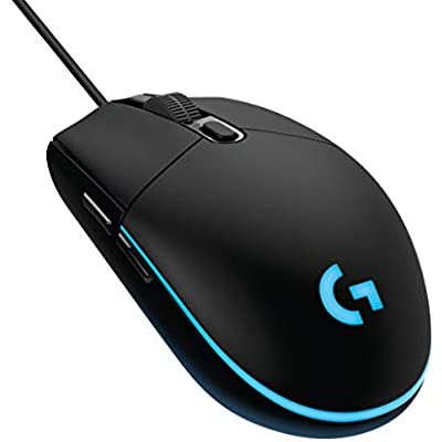 Logitech G203 Prodigy Ratón Gaming con cable, 8000 DPI, RGB LED Personalizable con 16,8 M Colores, Peso Reducido, 6 Botones Programables, Memoria Integrada, PC/Mac,G203 1ª Gen.,Negro