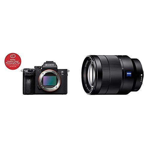 Sony a7 III Full-Frame Mirrorless Interchangeable-Lens Camera Optical with 3-Inch LCD, Black (ILCE7M3/B) and Sony 24-70mm f/4 Vario-Tessar T FE OSS Interchangeable Full Frame Zoom Lens