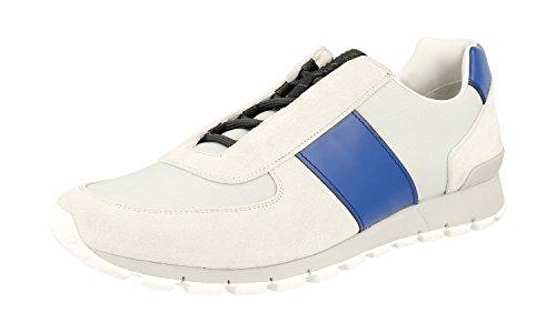 Prada Menns 4e2923 Skinn Sneaker