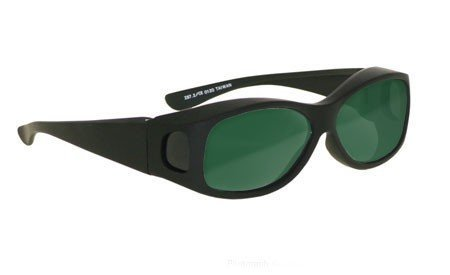 Laser Safety Eyewear - Diode Filter In Black Plastic Fit-Over Frame Style. by DIODE (Image #2)