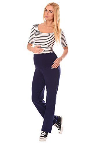 Purpless Maternity Pantalones de Maternidad Amplia 1300 Navy Short