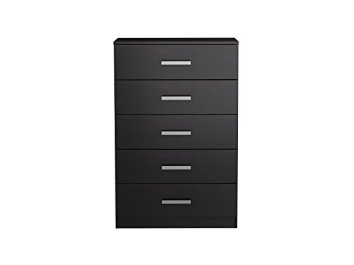 Homestar EB209107B9 Alexander 5 Drawer Chest, 27.56 x 42.24 x 16.77 '', Black Brown by Home Star