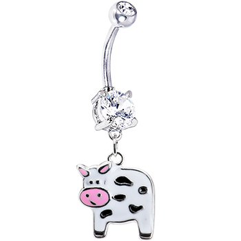 Cute Moo Cow Belly Ring product image