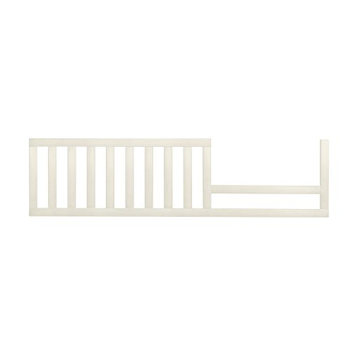 Usa Antique Bed - Evolur Convertible Crib Toddler Guard Rail in Antique White, 7 Pound