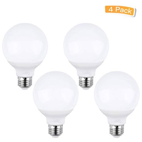 LXcom G25 Led Bulbs 5W G80 LED Globe Light Bulbs(4 Pack)- G25 -
