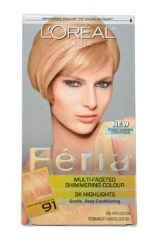 Amazon.com : Loreal Feria Multi Faceted Shimmering Hair Color, 91 ...