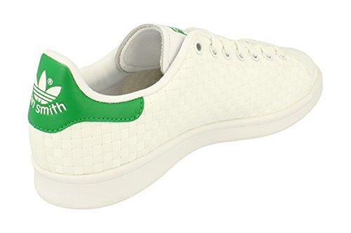 adidas Stan Smith, Scarpe Uomo, Bianco, 471/3EU White White Green S77267