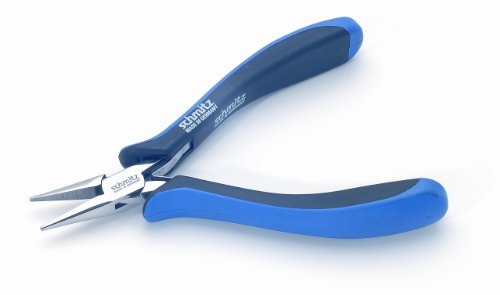Needle Nose Pliers 5.1/4'' | schmitz 4211HS22 | straight, short, smooth jaws | ESD - Dissipative | Hightech tool for professionals | Made in Germany - Solingen