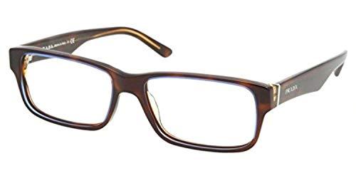 (Eyeglasses Prada PR 16 MVA ZXH1O1 TORTOISE DENIM)