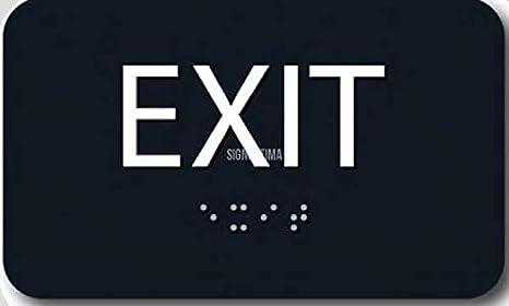 Amazon.com: EXIT Sign Tactile Ada Compliant, 6