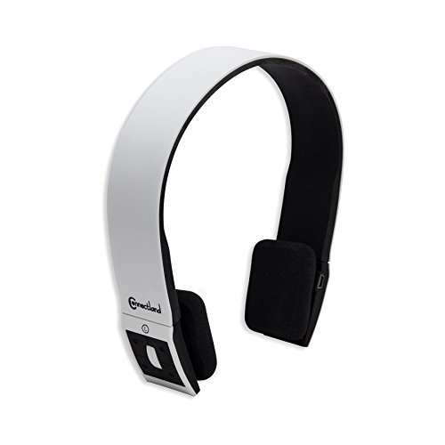 Connectland CL-AUD23029 Universal Wireless Bluetooth V4.0 + EDR norm Sport Band Headphone, White